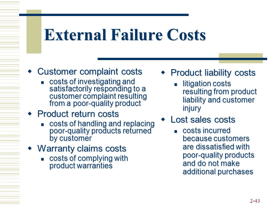 External Failure Costs