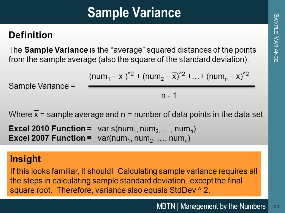 What is sample variance definition and meaning math dictionary.