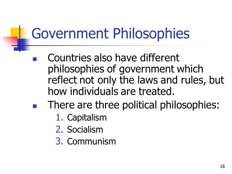 Government Philosophies