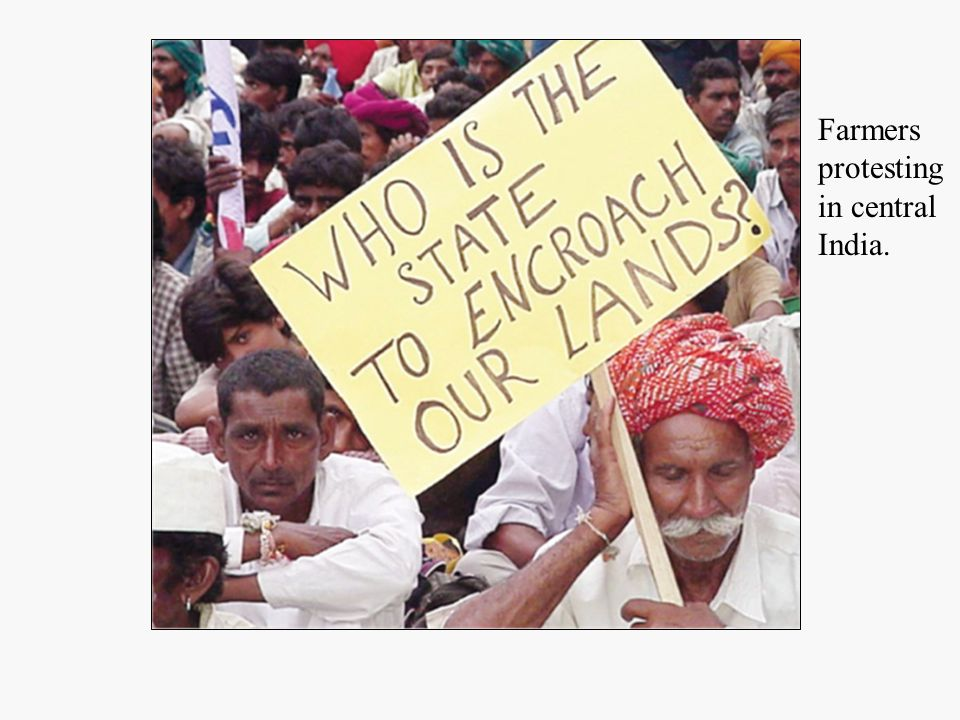 Farmers protesting in central India.