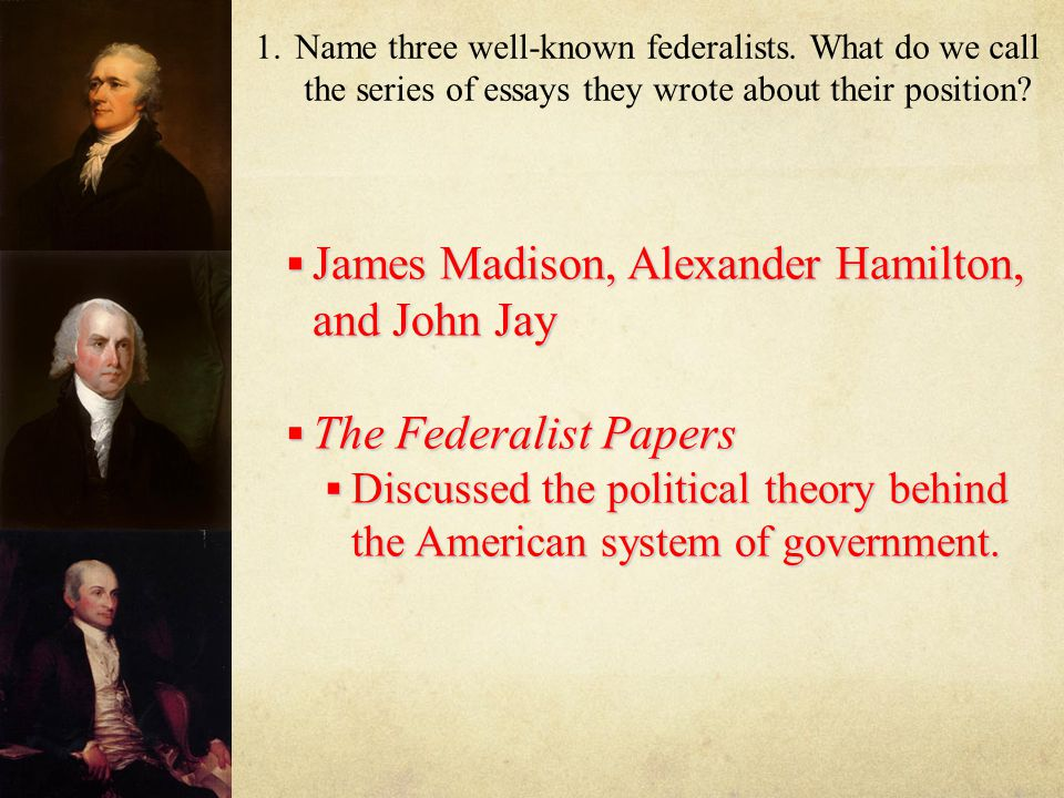 john jay federalist papers