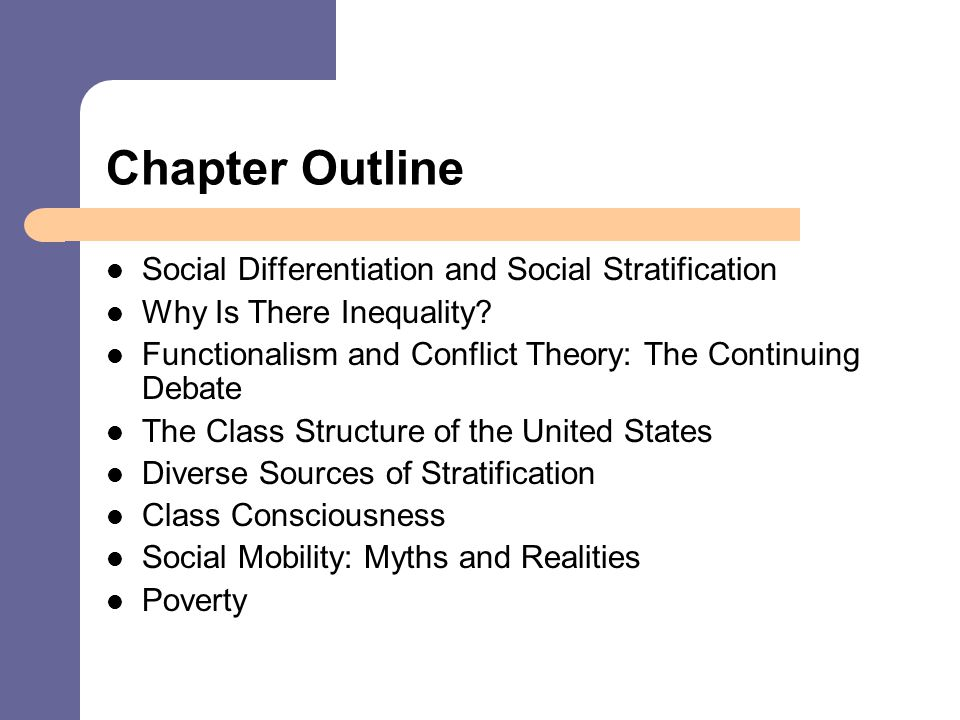 difference between social stratification and social differentiation