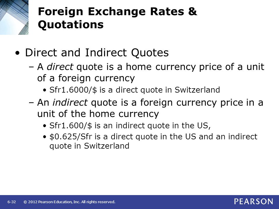 Foreign Exchange Rates Quotations