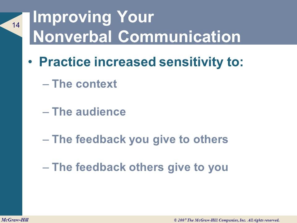 Improving Your Nonverbal Communication