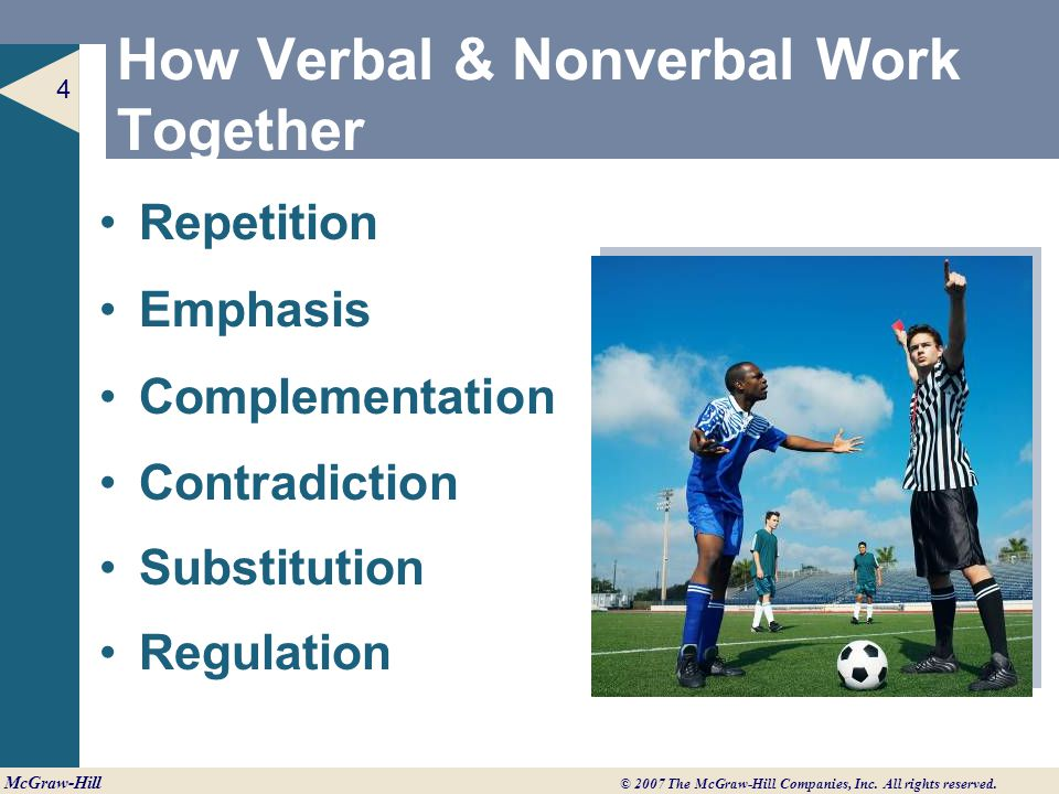 How Verbal & Nonverbal Work Together