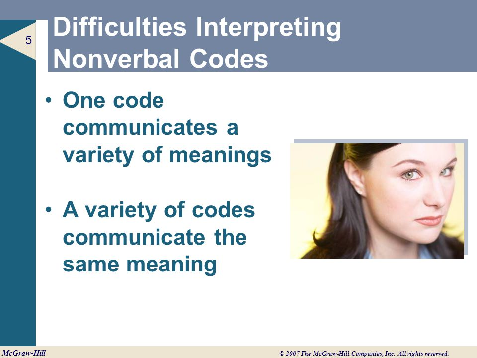 Difficulties Interpreting Nonverbal Codes