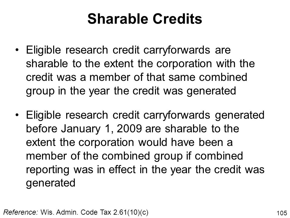 Sharable Credits
