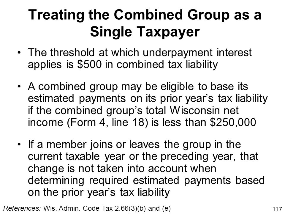 Treating the Combined Group as a Single Taxpayer