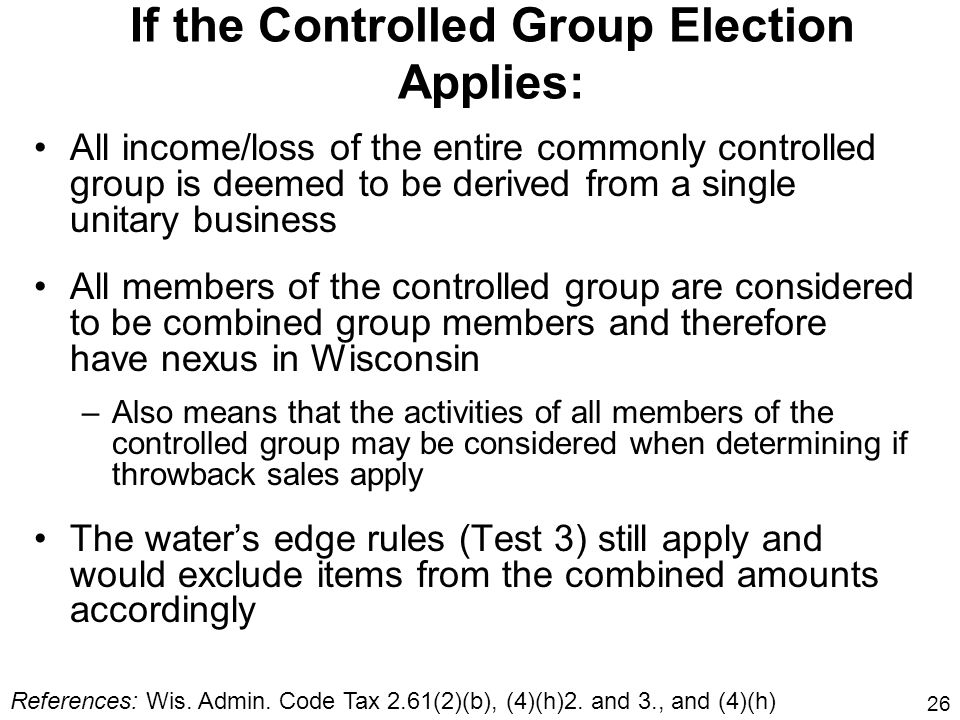 If the Controlled Group Election Applies: