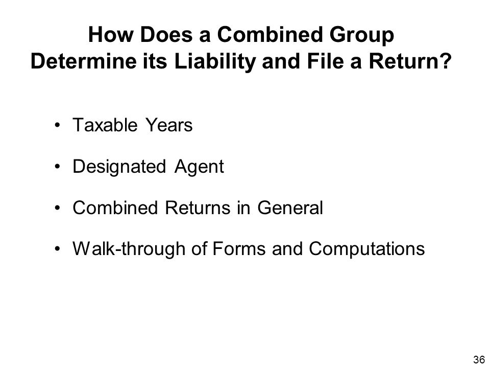How Does a Combined Group Determine its Liability and File a Return