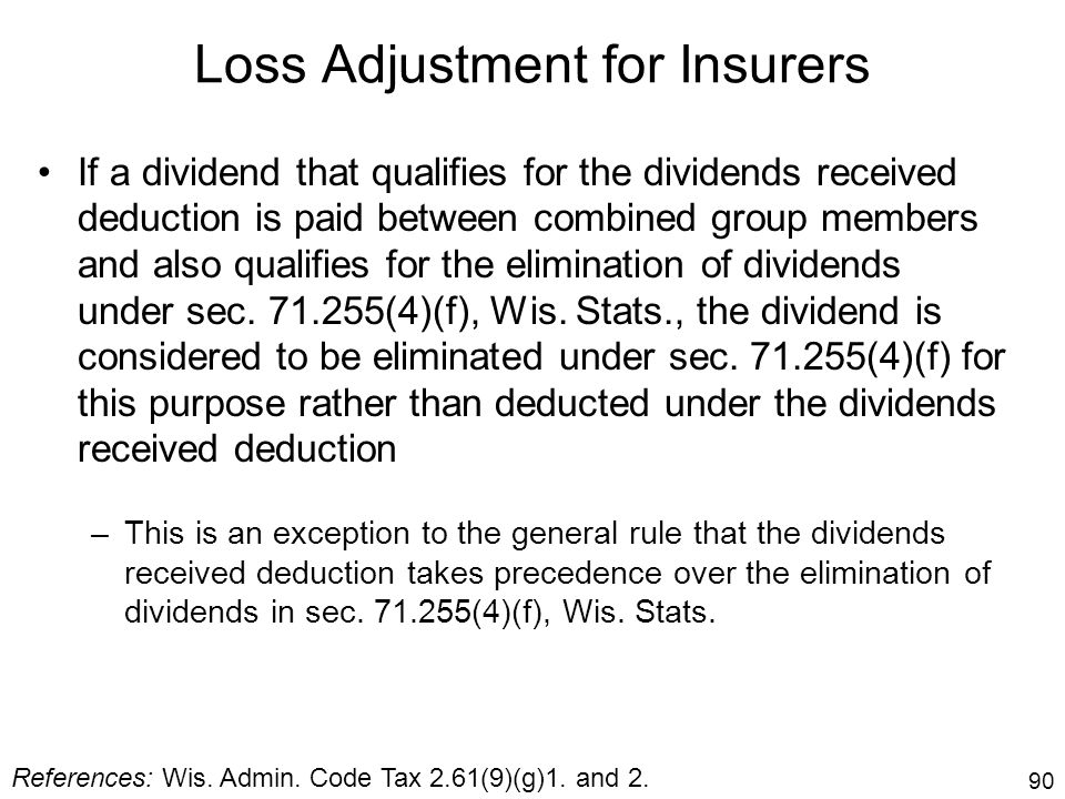 Loss Adjustment for Insurers