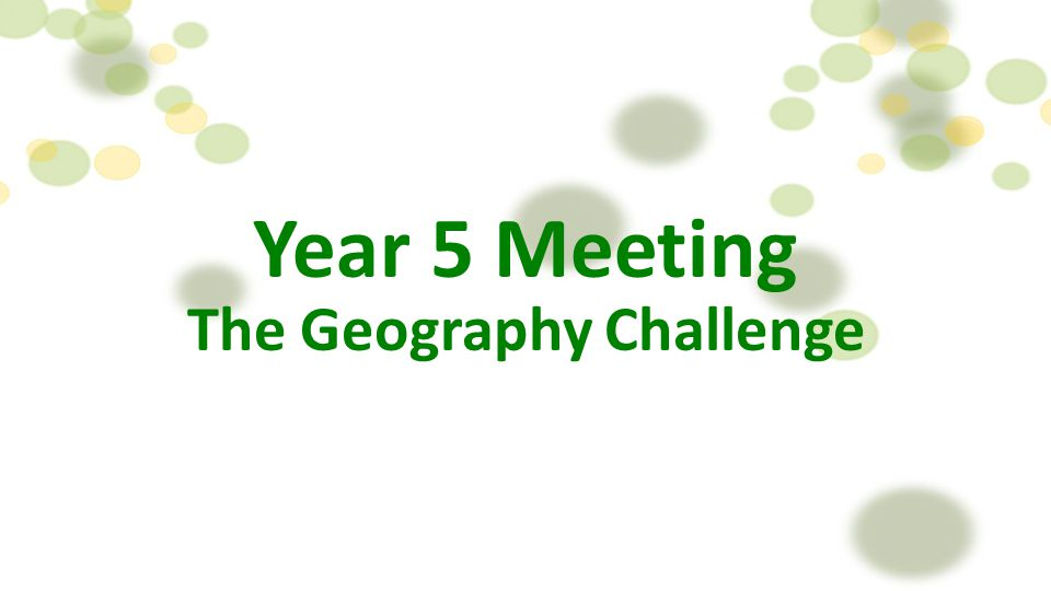 The Geography Challenge