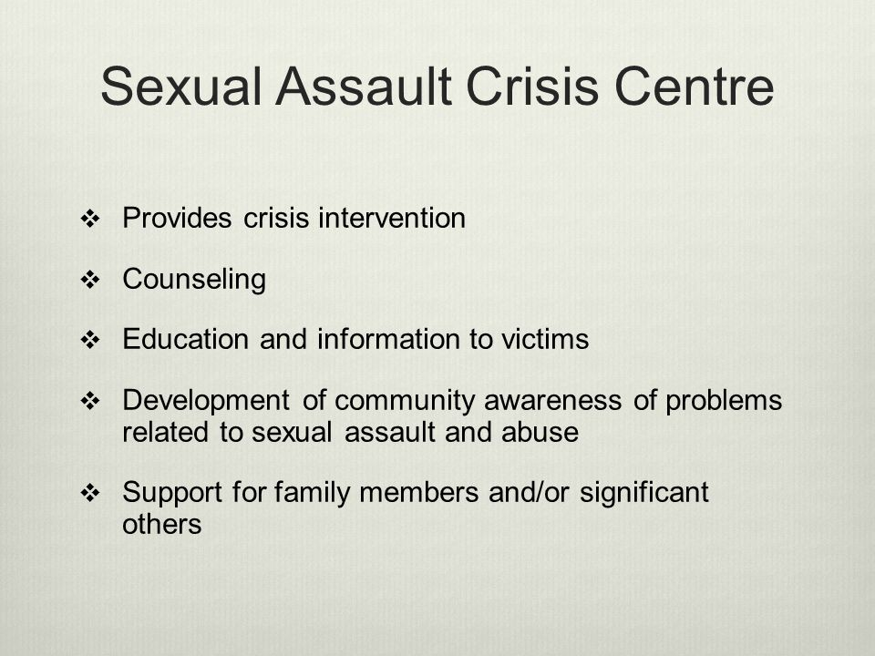 Sexual Assault Crisis Centre