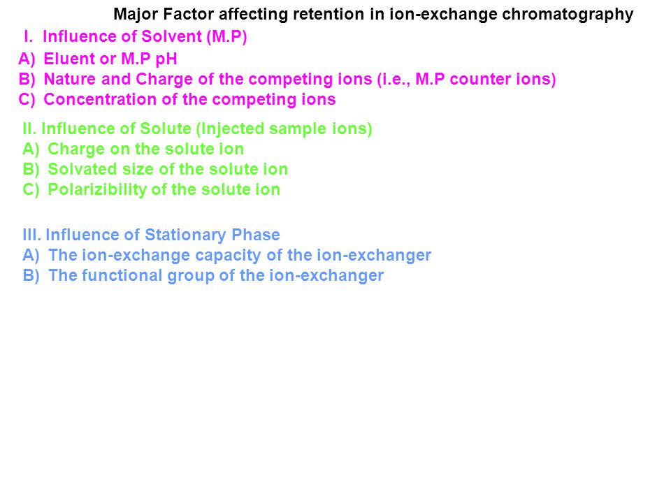 Ion Exchange Chromatography - ppt video online download