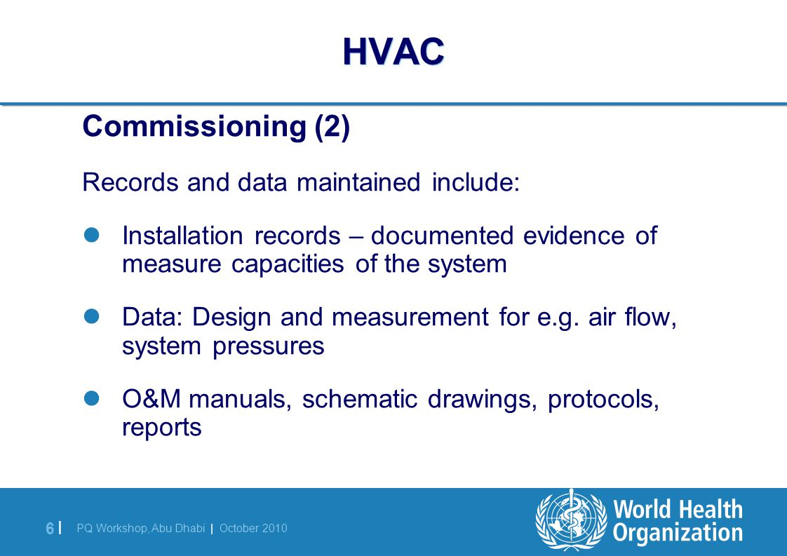 Qualification Of Hvac Systems Ppt Download Process Flow Diagram 6 World Health Organization