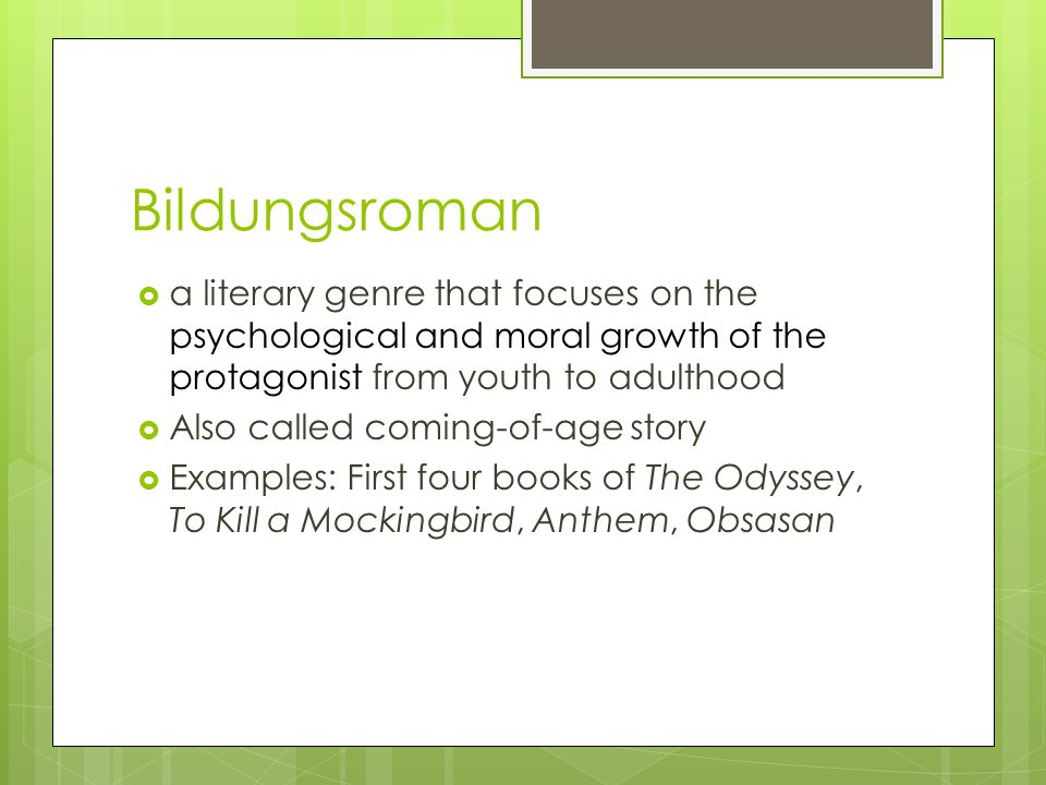 examples of bildungsroman in literature