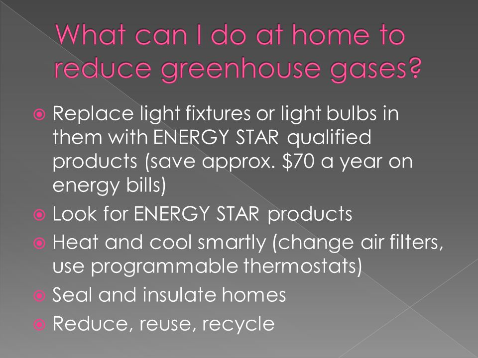 What can I do at home to reduce greenhouse gases