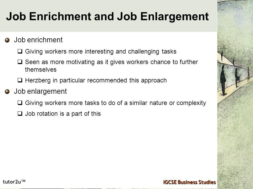 job enrichment motivation