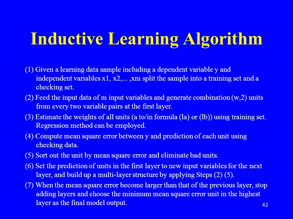 Inductive Learning Algorithm