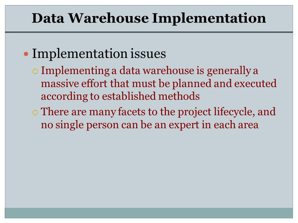 Data Warehouse  - ppt video online download