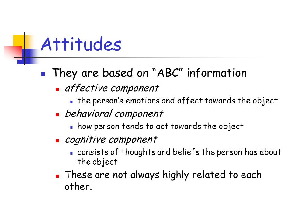 thoughts based on attitude