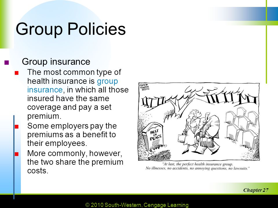 Group Policies Group insurance