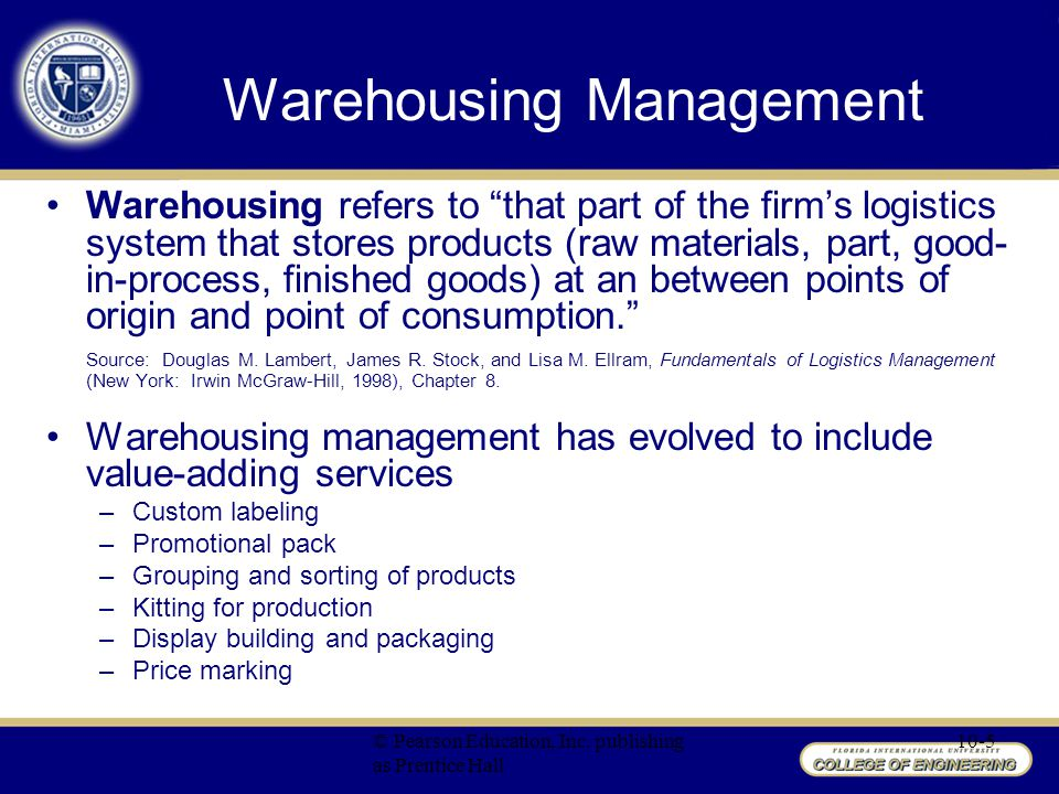 Chapter 10 Warehousing Management - ppt video online download