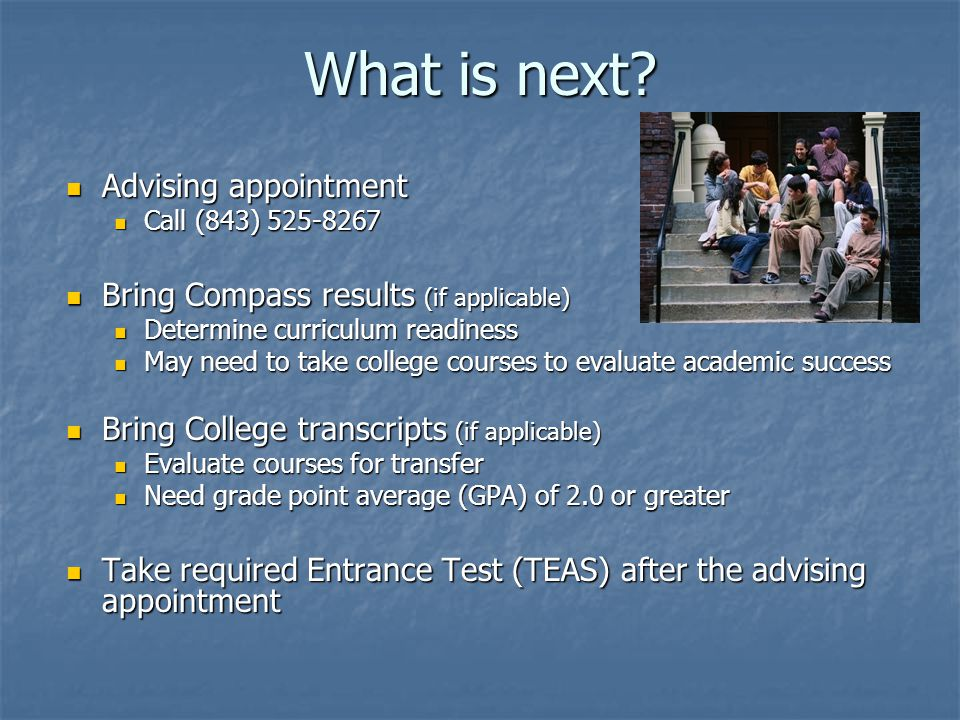 What is next Advising appointment
