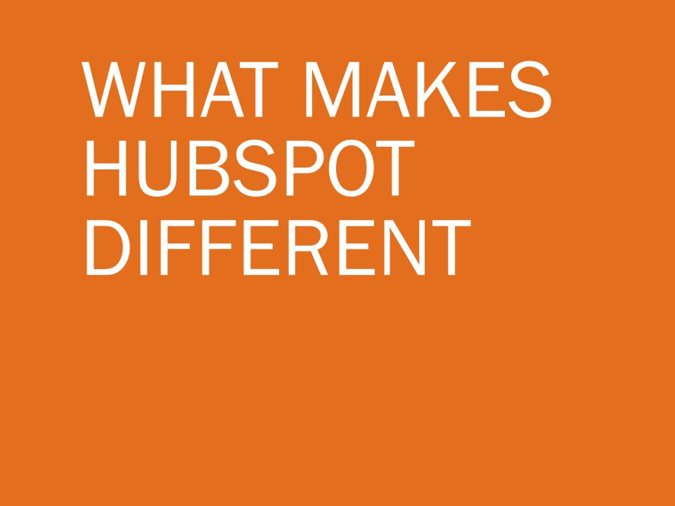 What makes hubspot Different