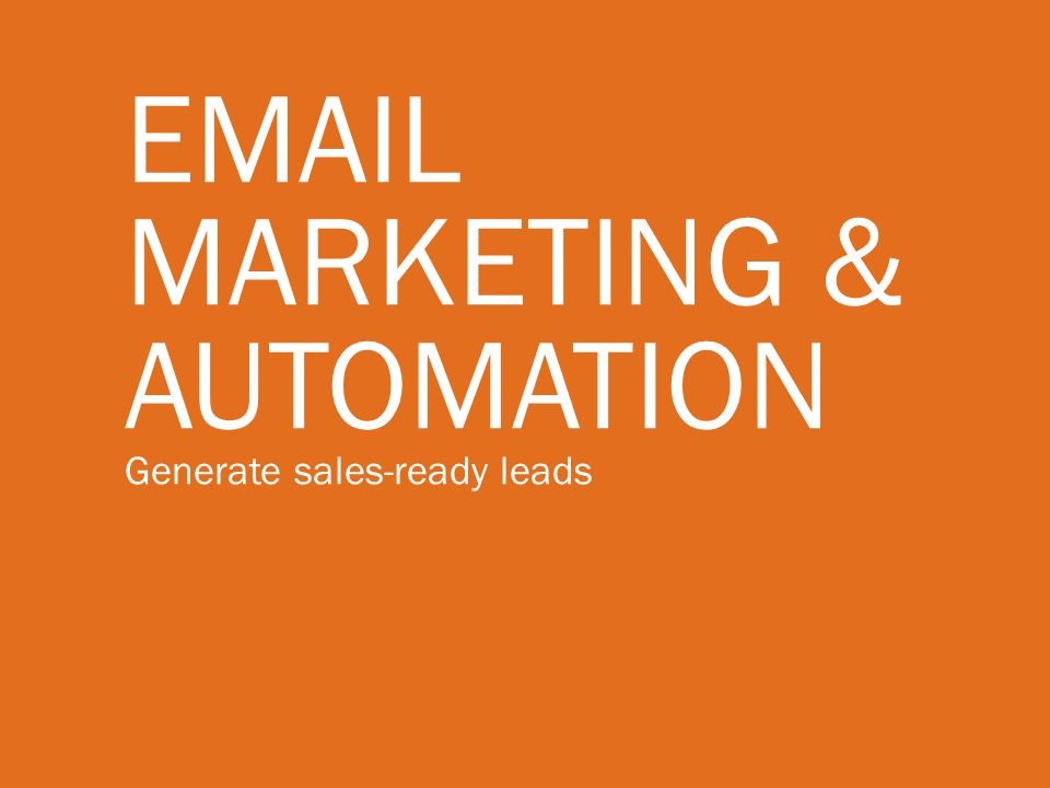Marketing & Automation