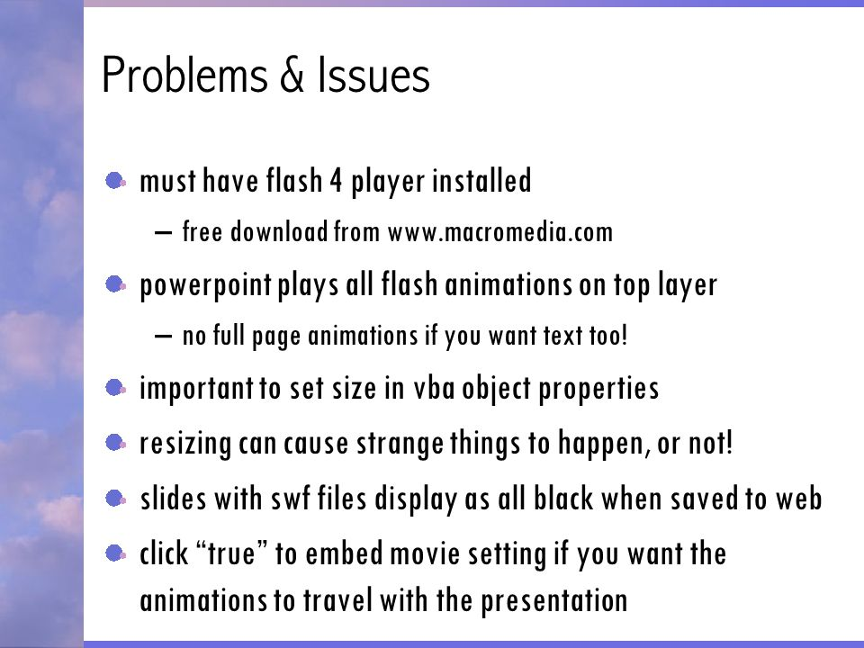 Using Flash Animations In PowerPoint - ppt download