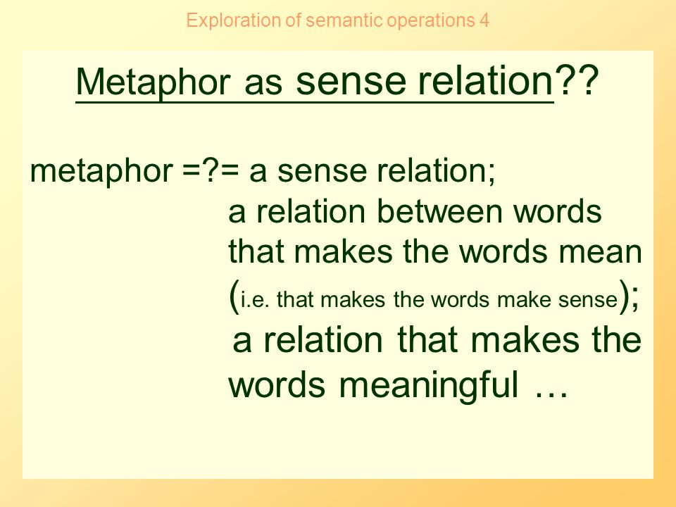 the notion of a semantic field english language essay 'the language should cover all common semantic and syntactic constructs' 'for deaf children a stronger connection should exist between orthographic and semantic features' 'formal scientific languages can be subjected to more thorough study by the semantic method that he developed.