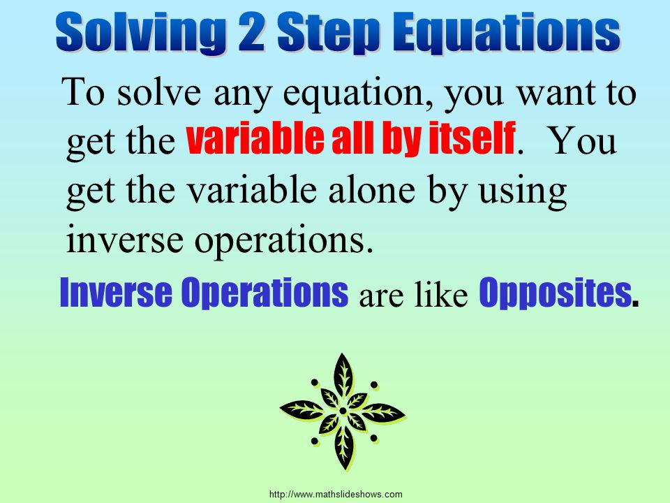 Solving 2 Step Equations