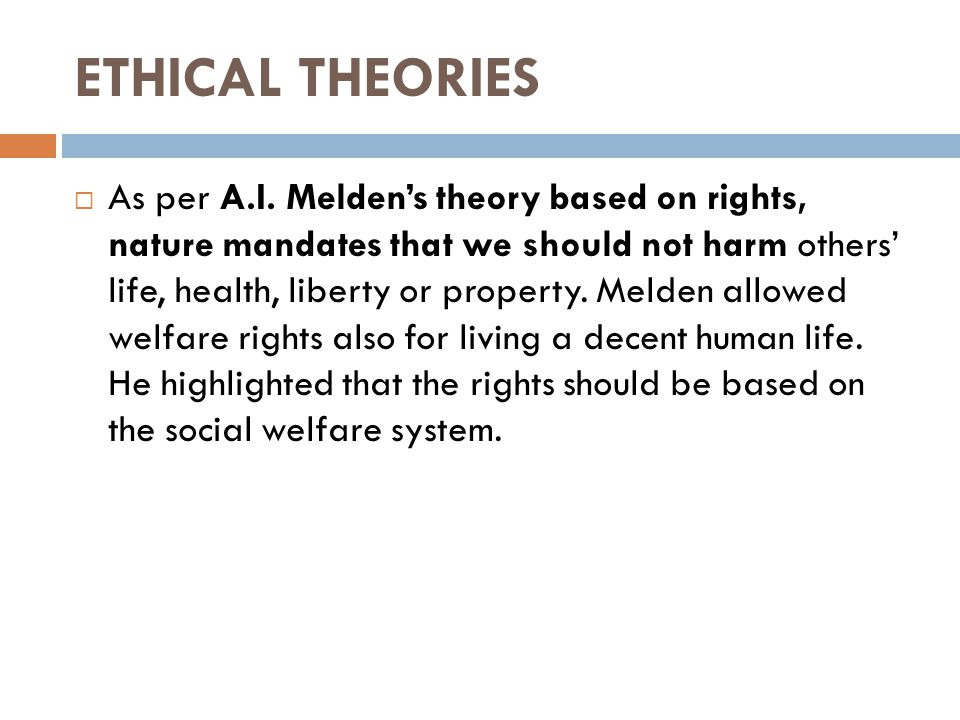 social welfare theory of rights