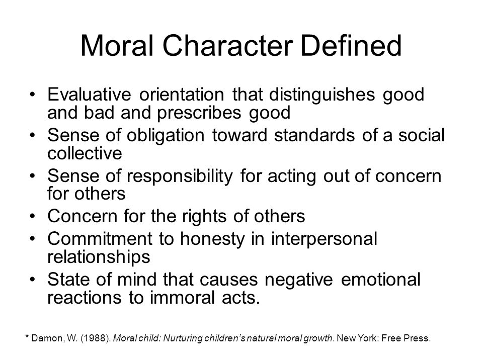 moral character development
