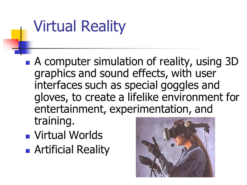 Virtual reality on the internet ppt video online download virtual reality freerunsca Choice Image
