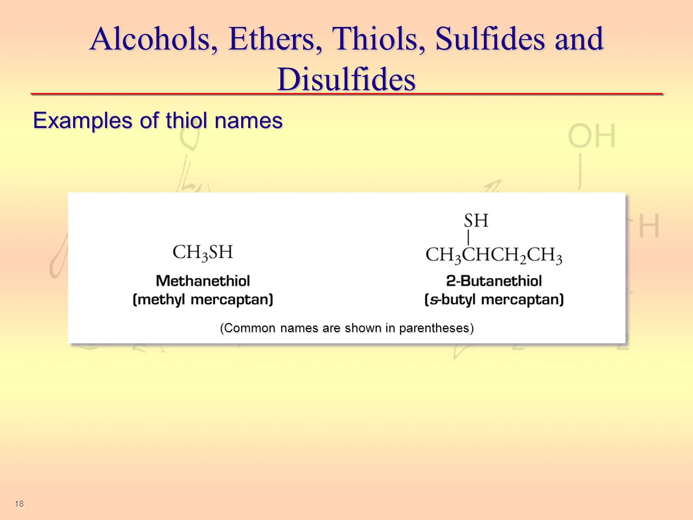 Sulfhydryl Group Examples Chem 150 Unit 8 - Orga...