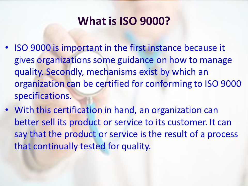 Quality management Standardization and Certification - ppt video ...