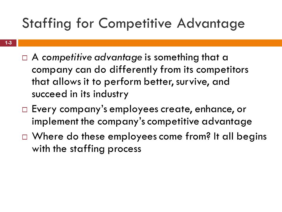 Staffing for Competitive Advantage