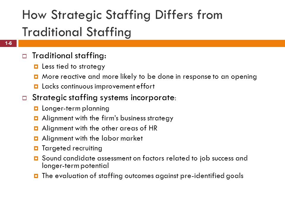 How Strategic Staffing Differs from Traditional Staffing