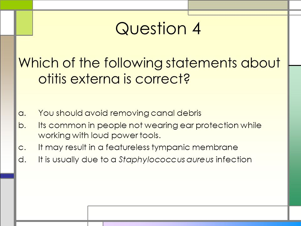 which of the following statements about online surveys is true common ear conditions medway vts ppt video online download 4901