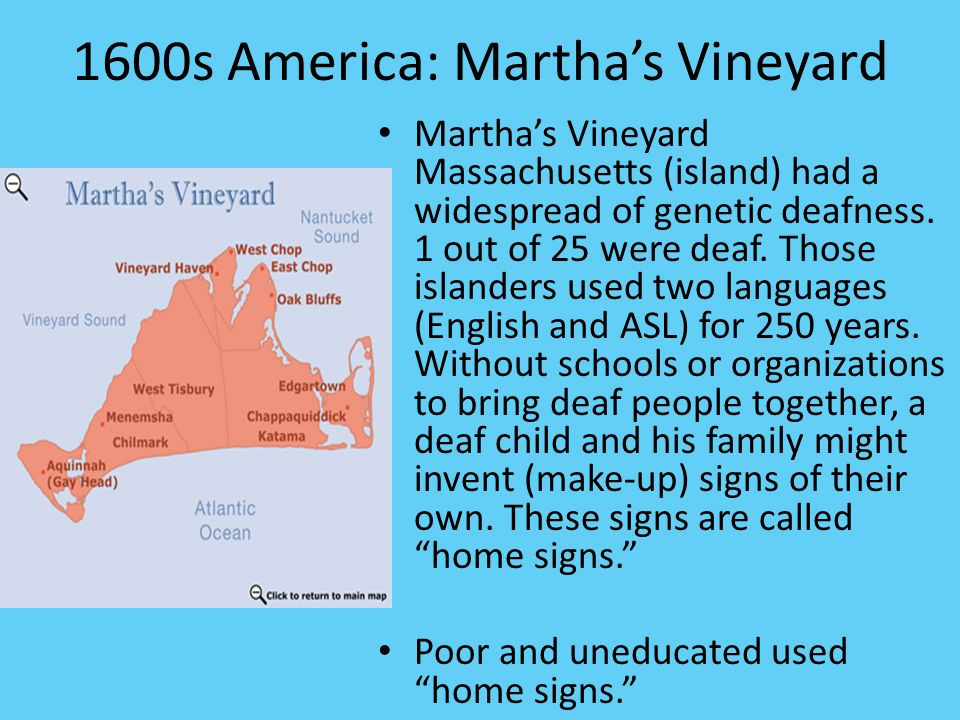 1600s America: Martha's Vineyard
