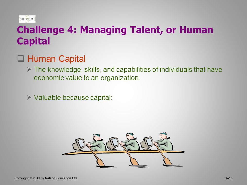 Challenge 4: Managing Talent, or Human Capital