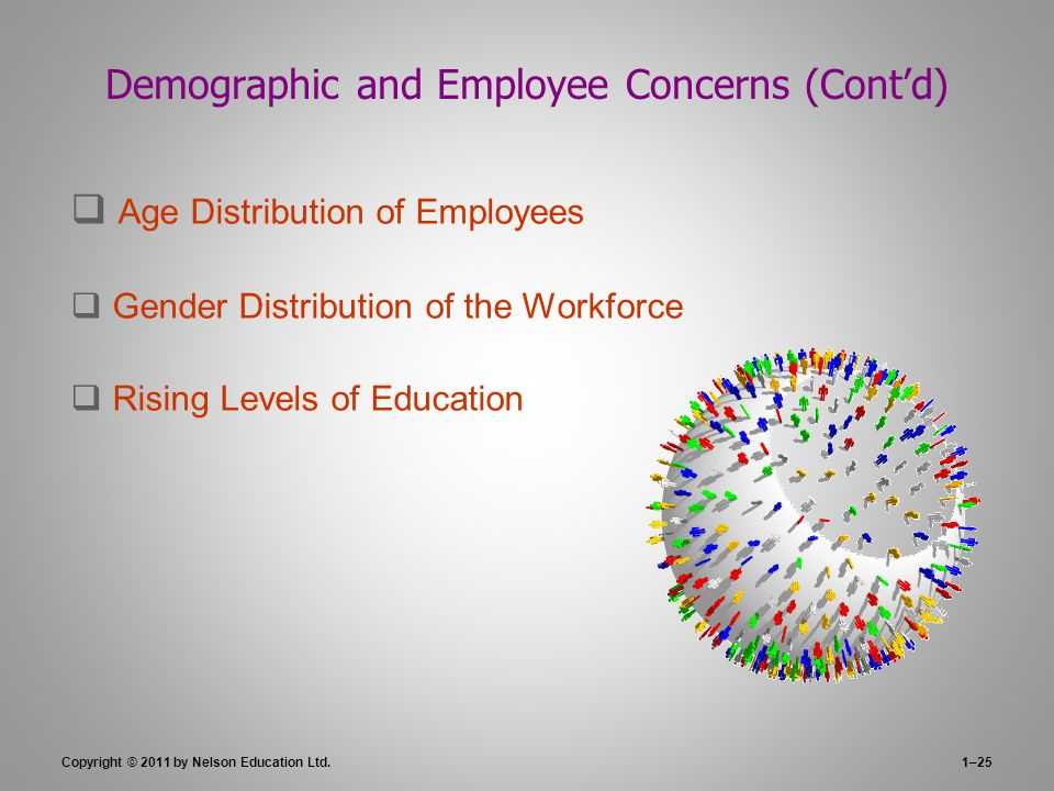 Demographic and Employee Concerns (Cont'd)