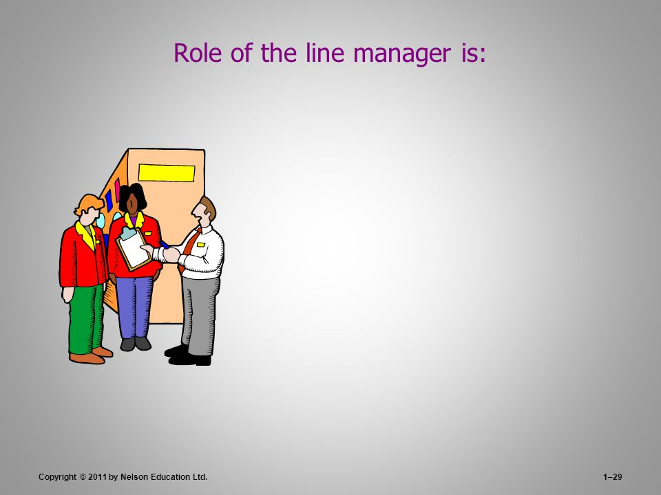 Role of the line manager is: