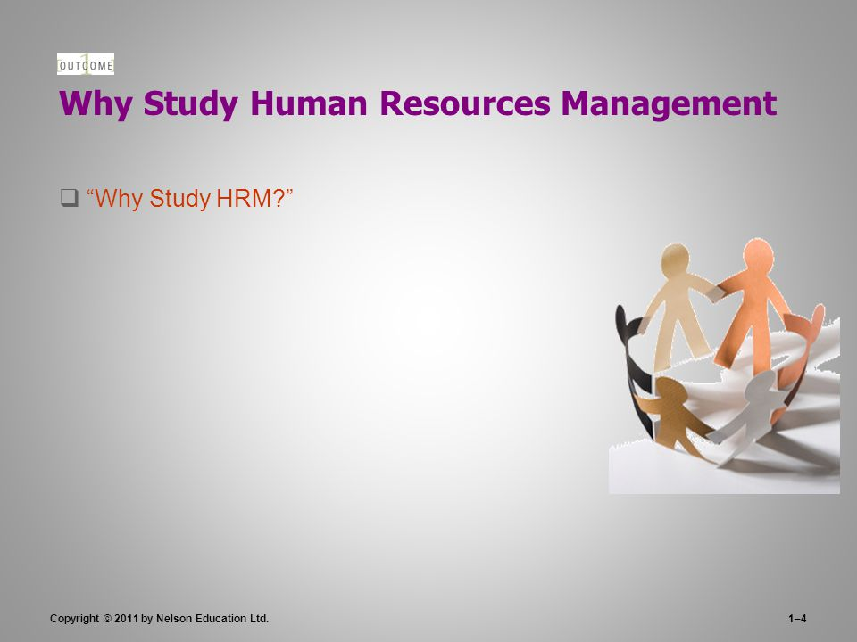 Why Study Human Resources Management