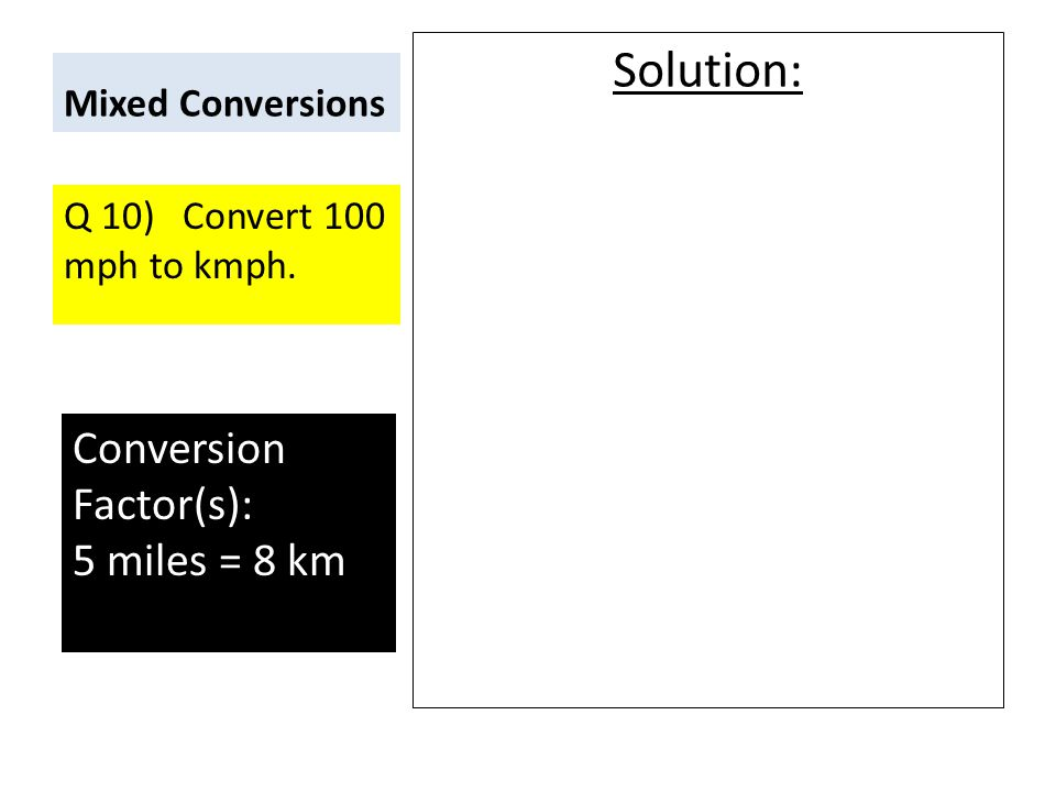 Metric and Non-Metric Conversion Problems  - ppt video