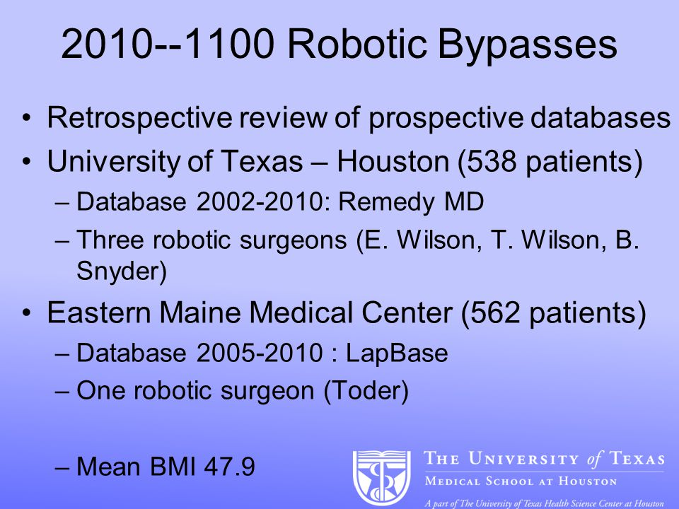 Robotic Bariatric Surgery: Ok, When Do I Have to Deal with