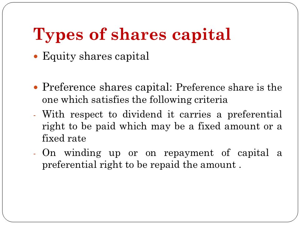 equity shares vs preference shares