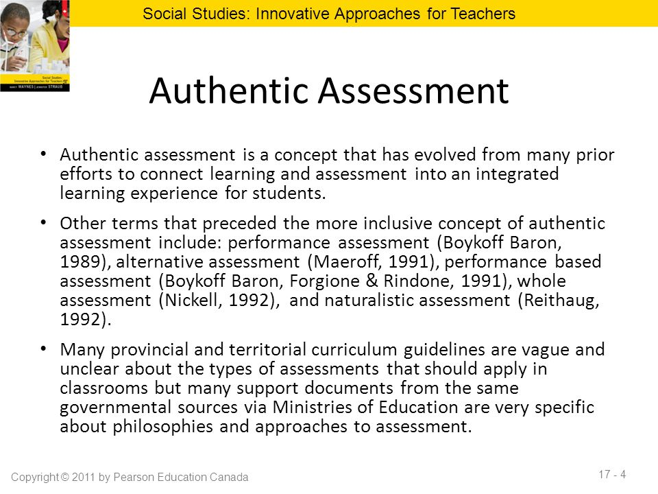 Authentic assessment 2.